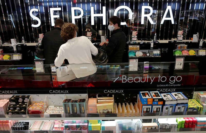 FILE PHOTO: Sephora store on the Champs Elysees Avenue in Paris