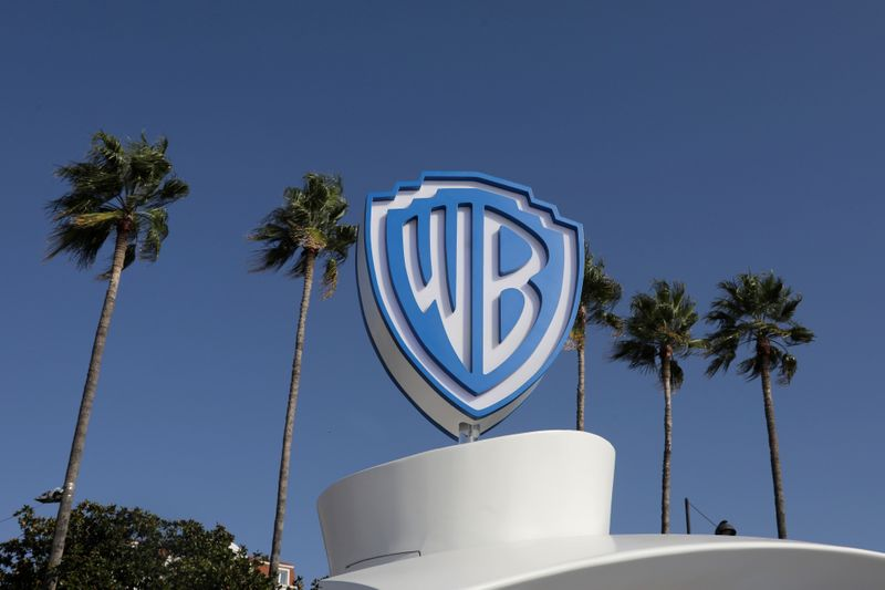 FILE PHOTO: The Warner Bros logo is seen during the annual MIPCOM television programme market in Cannes