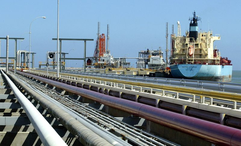 FILE PHOTO: An oil tanker is seen at Jose refinery cargo terminal in Venezuela in this undated file photo