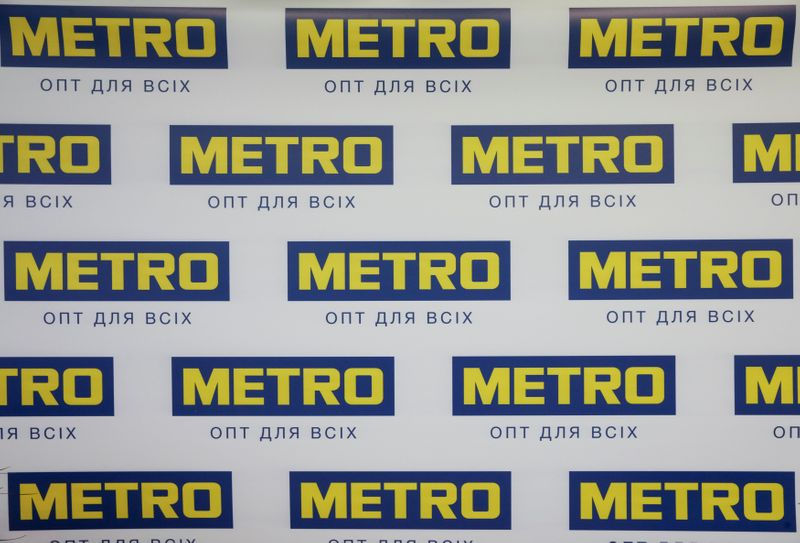 Logo of German retailer Metro is seen at its cash and carry store in Kiev