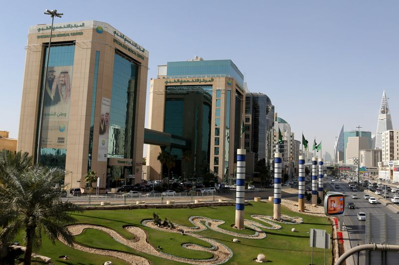 FILE PHOTO: Buildings are seen in Riyadh
