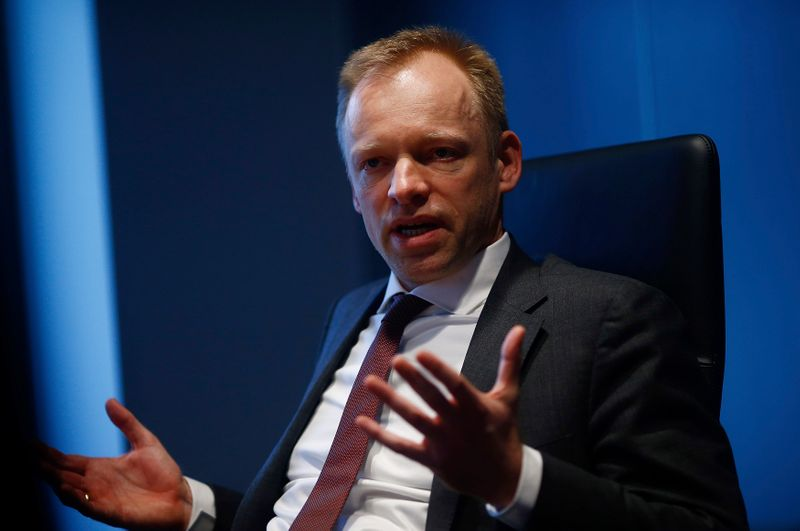 Fuest, Co-Director of the Centre for European Economic Research (ZEW) speaks during an interview with Reuters in Frankfurt