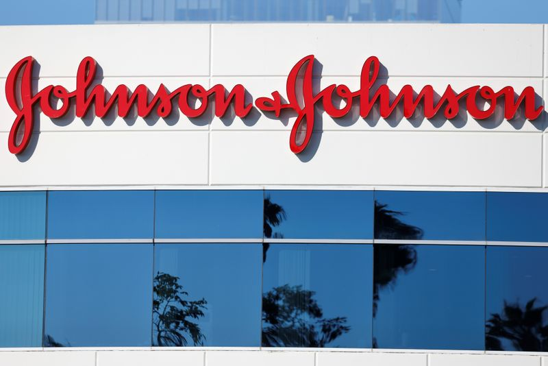 FILE PHOTO: Johnson & Johnson company offices are shown in Irvine, California