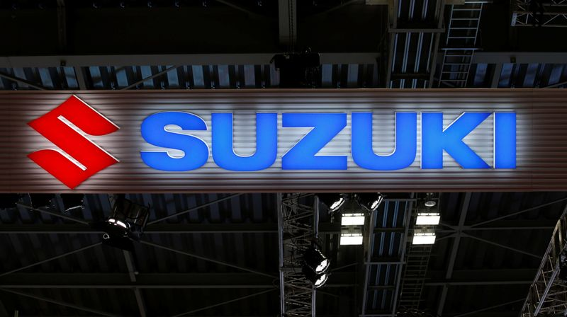 The logo of Suzuki Motor Corp. is pictured at the 45th Tokyo Motor Show in Tokyo