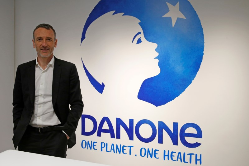 FILE PHOTO: Danone's Faber before a news conference