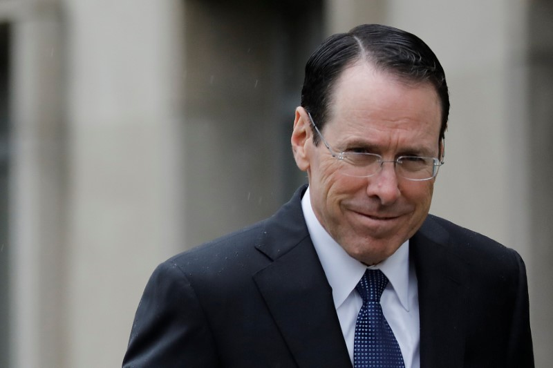 Chief Executive Officer of AT&T Randall Stephenson arrives at a U.S. District Court in Washington, D.C.
