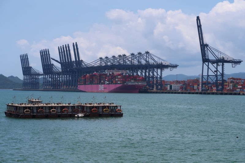 Cranes and containers are seen at the Yantian port in Shenzhen, following the novel coronavirus disease (COVID-19) outbreak