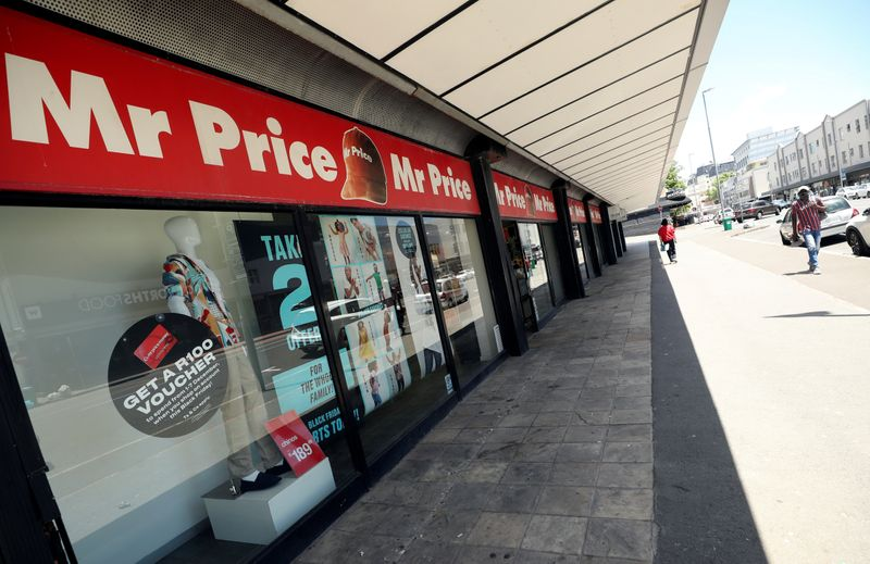 FILE PHOTO: Branch of South African clothing and homeware retailer Mr Price is seen in Cape Town