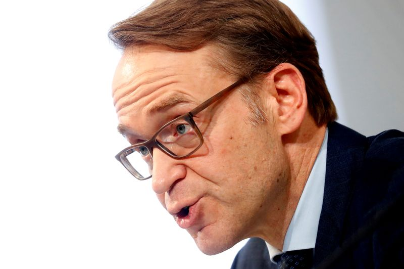 FILE PHOTO: German Bundesbank President Jens Weidmann presents the annual 2018 report in Frankfurt