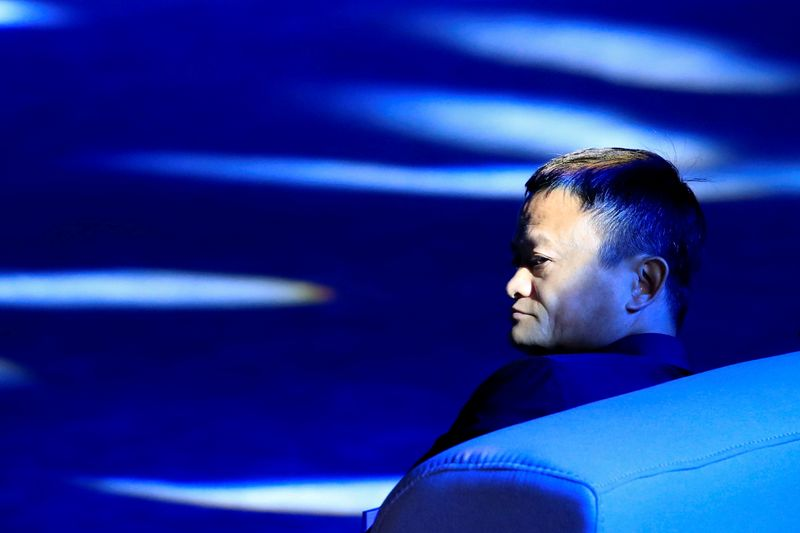 FILE PHOTO: Alibaba Group's Jack Ma attends the WAIC in Shanghai