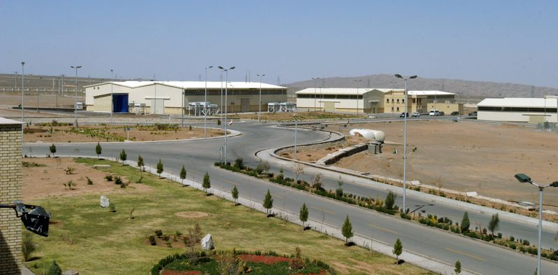 FILE PHOTO: A view of the Natanz uranium enrichment facility 250 km (155 miles) south of the Iranian capital Tehran