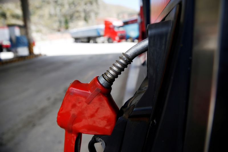 FILE PHOTO: A closed petrol pump is seen in Chuquiaguillo, on the outskirts of La Paz