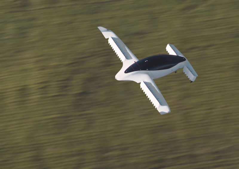 FILE PHOTO: A handout picture from Munich flying taxi startup Lilium shows its five-seater prototype