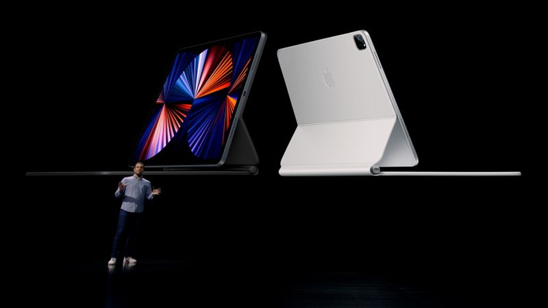 Apple's Raja Bose announces the new iPad Pro in Cupertino