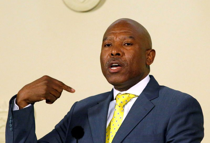 FILE PHOTO: Newly appointed SA Reserve Bank governor (SARB) Lesetja Kganyago gestures during a media briefing in Pretoria