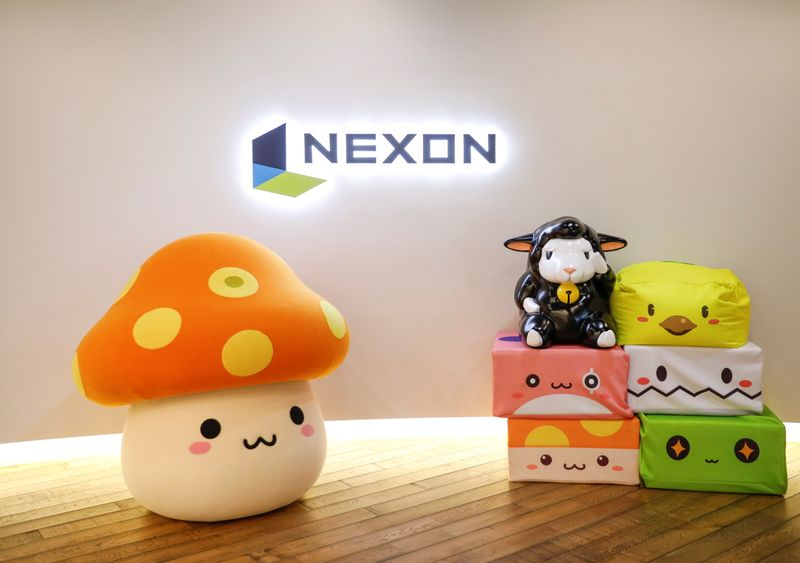 FILE PHOTO: The logo of Nexon is displayed at the company office in Tokyo