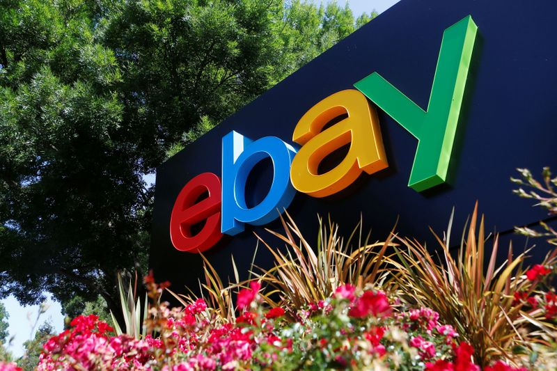 FILE PHOTO: An eBay sign at an office building in San Jose, California