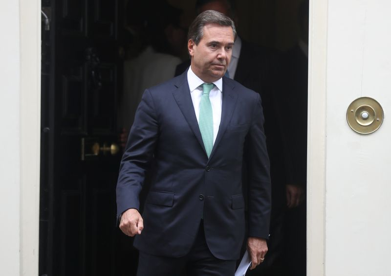 Antonio Horta-Osorio CEO of Lloyds Banking Group leaves Downing Street in London